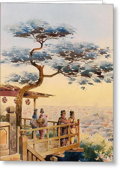 Top Quality Art - Edo Japan Greeting Card