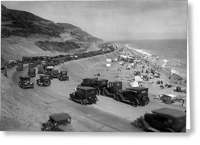 Topanga State Beach 1920 Greeting Card