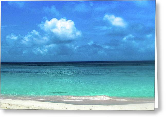 Topical Beach View Anguilla Greeting Card