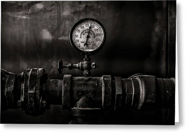 Greeting Card featuring the photograph Toronto Distillery District Machinery No 1 by Brian Carson