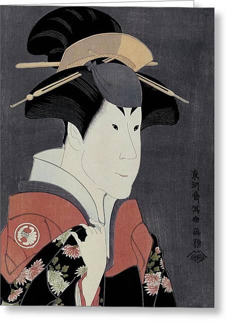 Toshusai Sharaku -copy-, Tsutaya Juzaburo / 'the Actor Segawa Tomisaburo II', 1794, Japanese School. Greeting Card