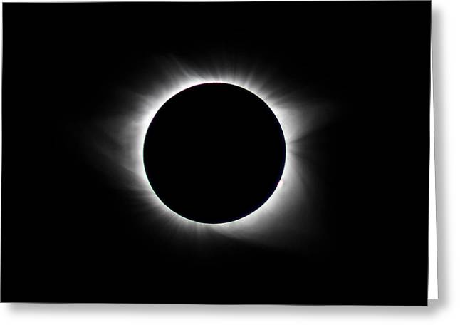 Totality  Greeting Card by Christine Buckley