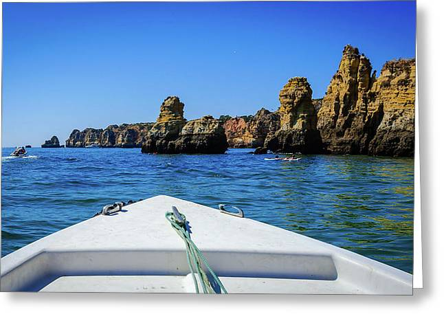 Towards The Cliffs Greeting Card