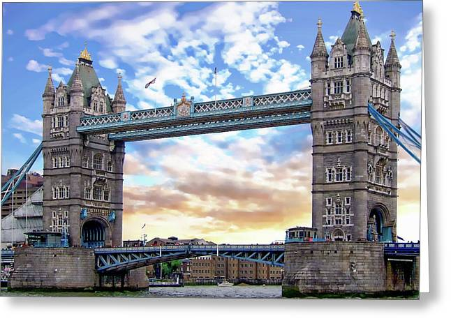 Greeting Card featuring the photograph Tower Bridge by Anthony Dezenzio