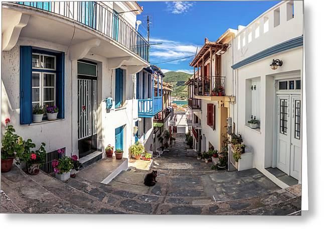 Town Of Skopelos Greeting Card