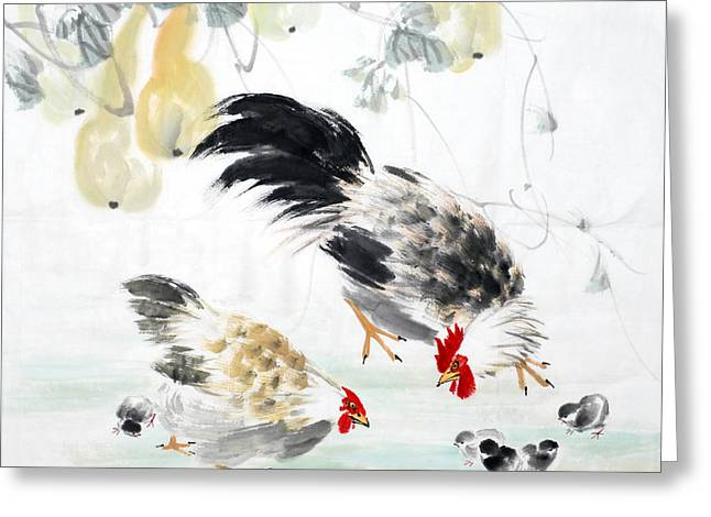 Traditional Chinese Ink Painting Greeting Card