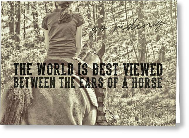 Trail Ride Quote Greeting Card by JAMART Photography