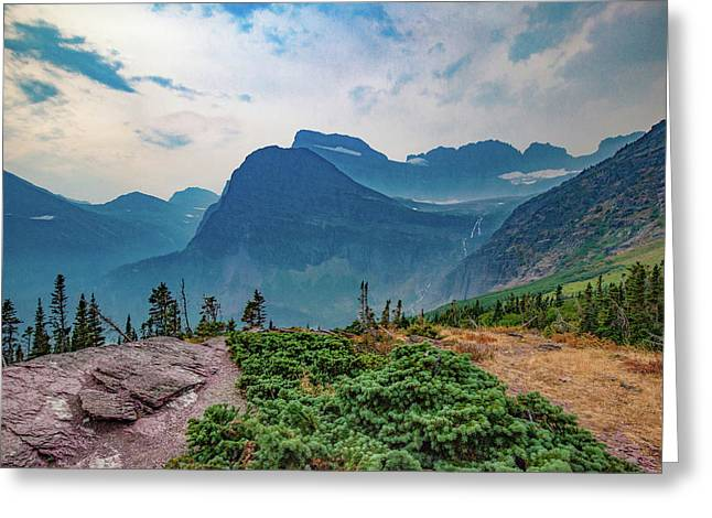 Greeting Card featuring the photograph Trail To Grinnell Glacier by Lon Dittrick