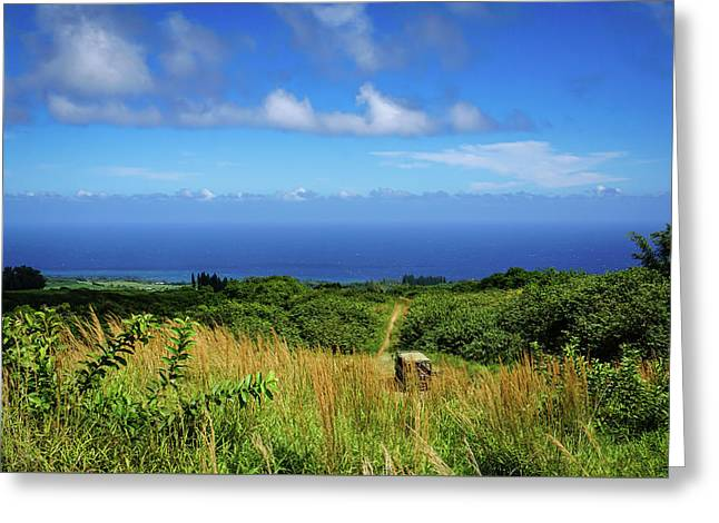 Trail To The Ocean Greeting Card