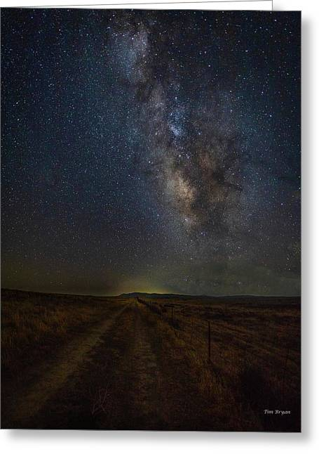 Greeting Card featuring the photograph Trails End by Tim Bryan