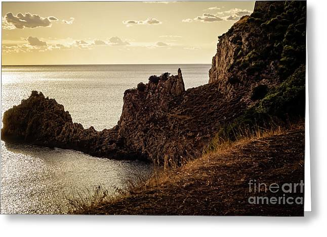 Tranquil Mediterranean Sunset    Greeting Card