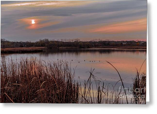 Tranquil Sunset Greeting Card