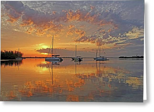 Tranquility Bay - Florida Sunrise Greeting Card
