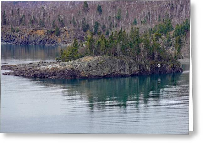Tranquility In Silver Bay Greeting Card