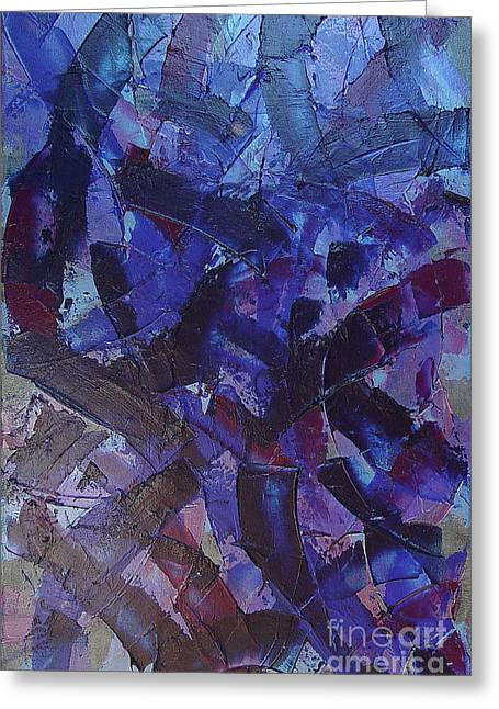 Transitions With Blue And Magenta Greeting Card