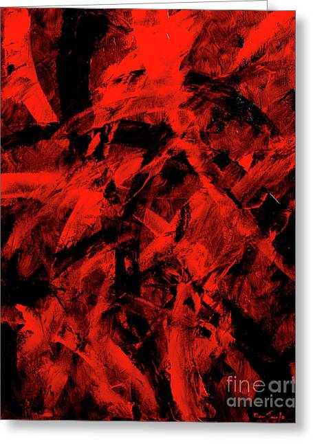 Transitions With Red And Black Greeting Card