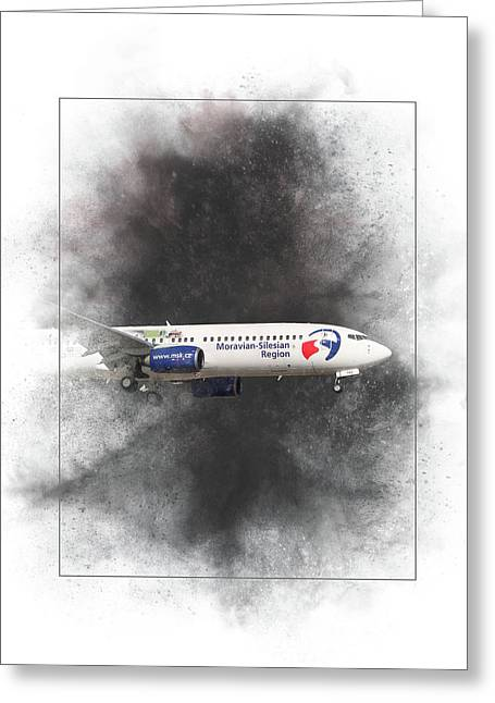 Travel Service Boeing 737-8cx Painting Greeting Card