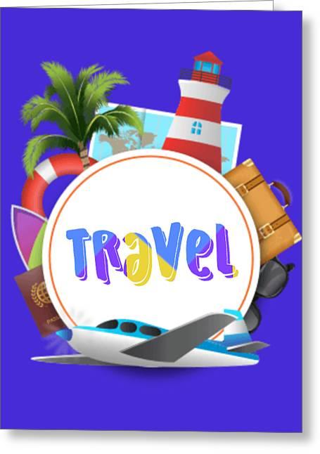 Travel World Greeting Card