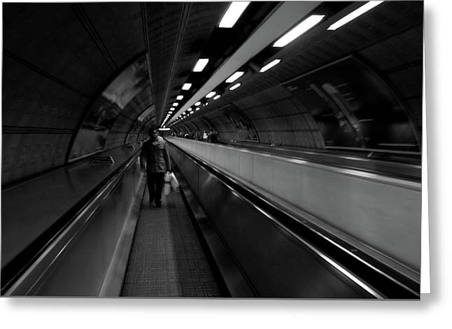 Greeting Card featuring the photograph Travelator  by Edward Lee