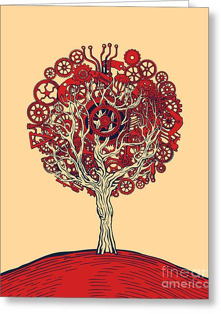 Tree Of Graphic Design Greeting Card