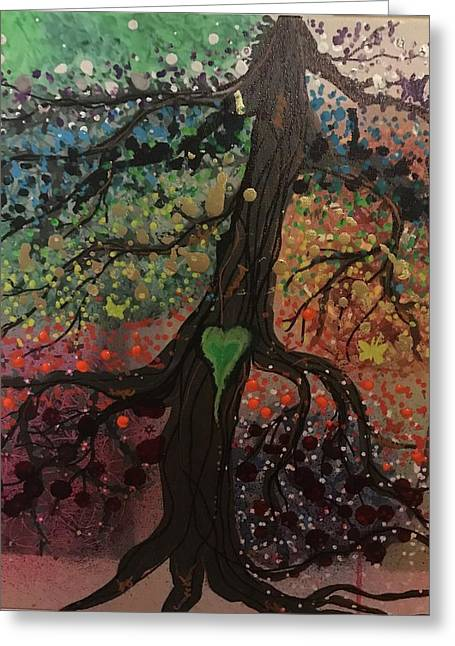 Tree Of Life Chakra Tree Greeting Card