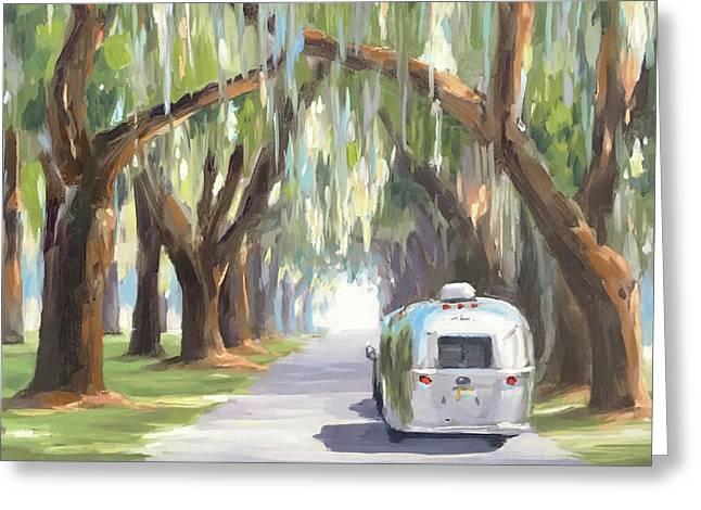 Tree Tunnel Greeting Card