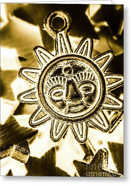 Tribal Suns  Greeting Card