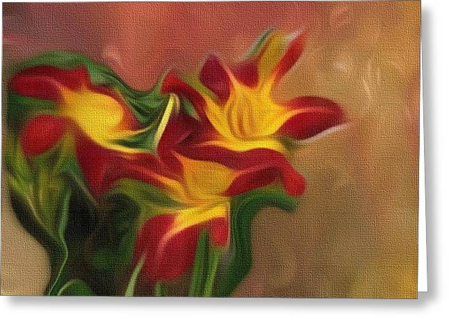 Trio Of Day Lilies Greeting Card