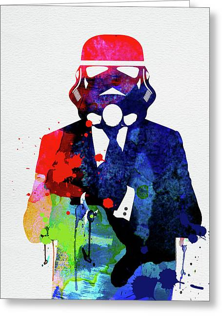 Trooper In Suite Watercolor Greeting Card