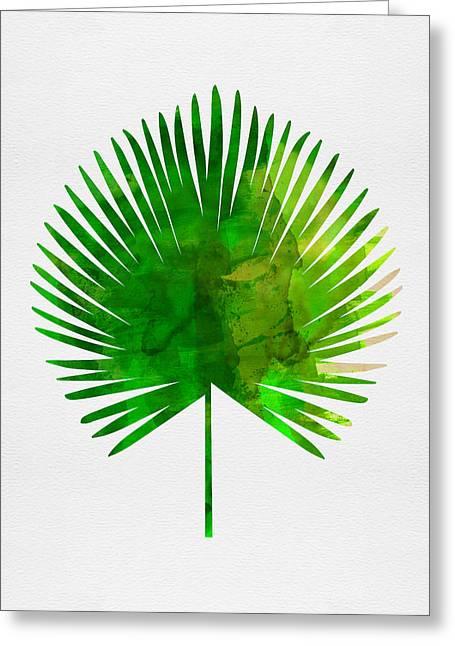 Tropical Chamaerops Leaf Greeting Card