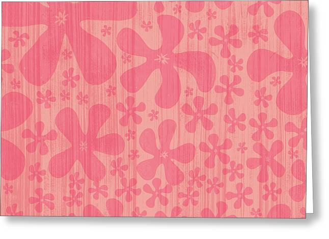 Tropical Floral Pattern Greeting Card