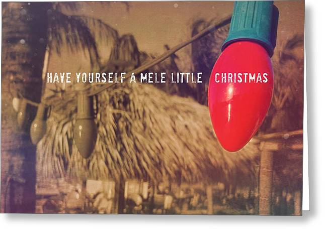 Tropical Holiday Quote Greeting Card by JAMART Photography
