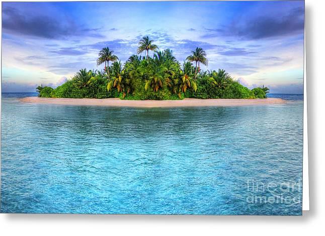 Tropical Island Of Maldives Greeting Card