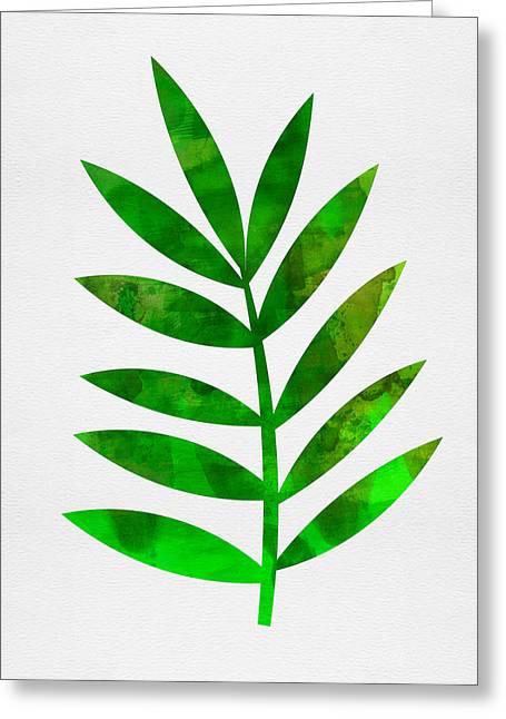 Tropical Leaf 3 Greeting Card