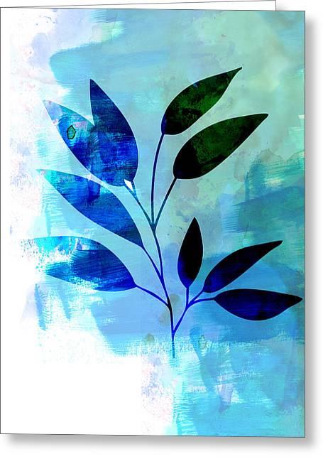 Tropical Leaf Watercolor II Greeting Card