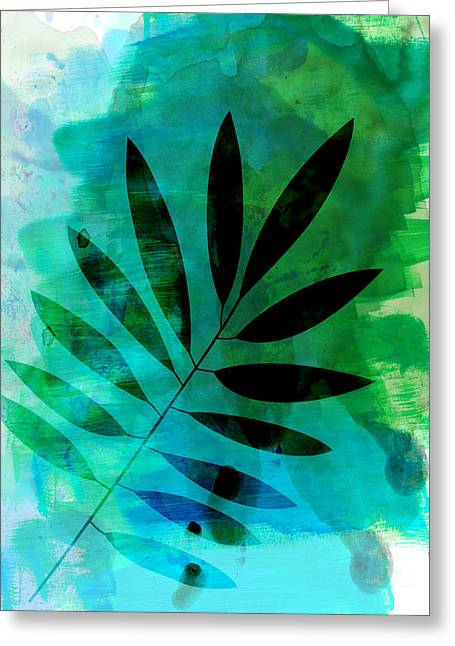 Tropical Leaf Watercolor  Greeting Card