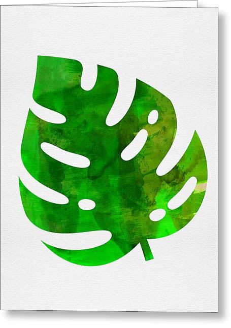 Tropical Monstera Leaf I Greeting Card