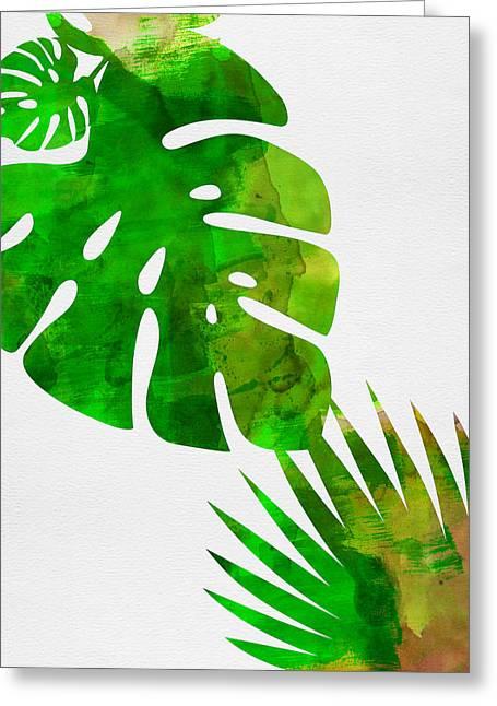 Tropical Monstera  Greeting Card