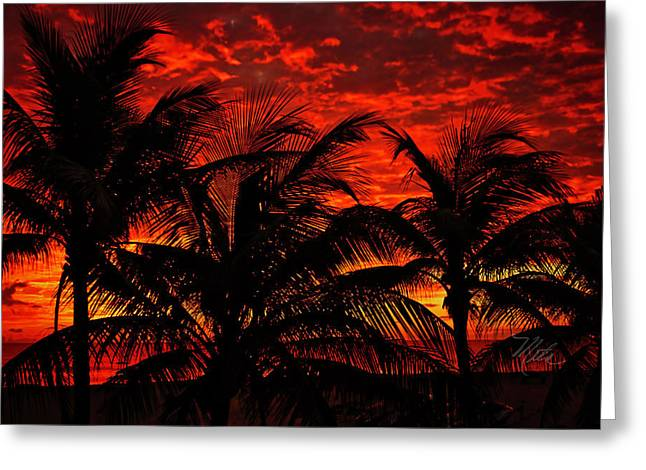 Tropical Sunrise Greeting Card