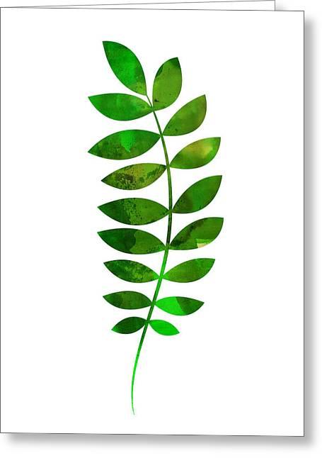 Tropical Zamioculcas Leaf  Greeting Card