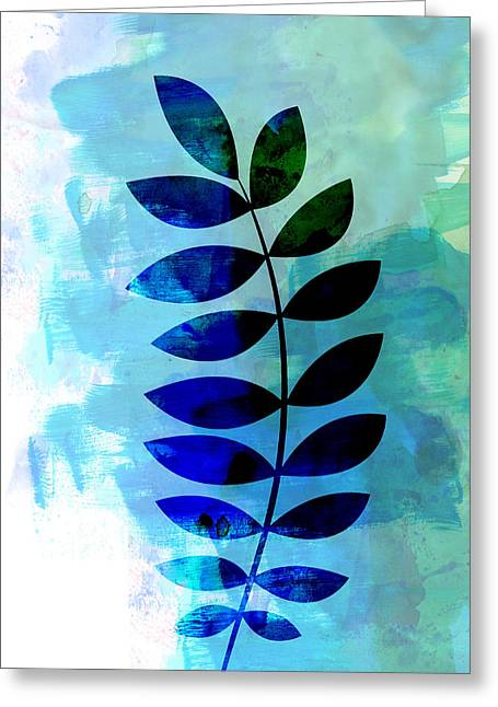 Tropical Zamioculcas Leaf Watercolor Greeting Card