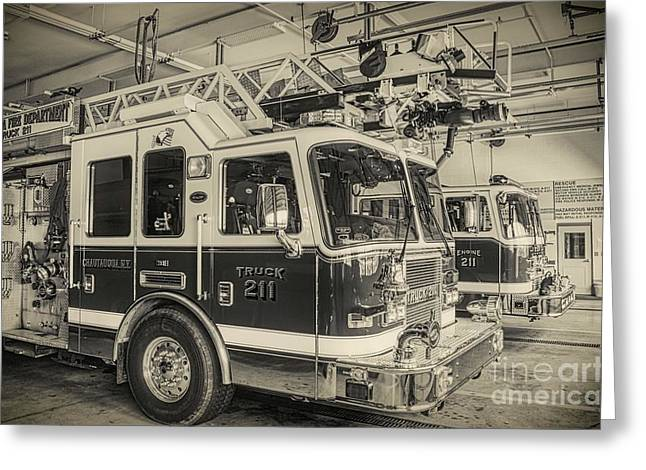 Truck And Engine 211 Greeting Card