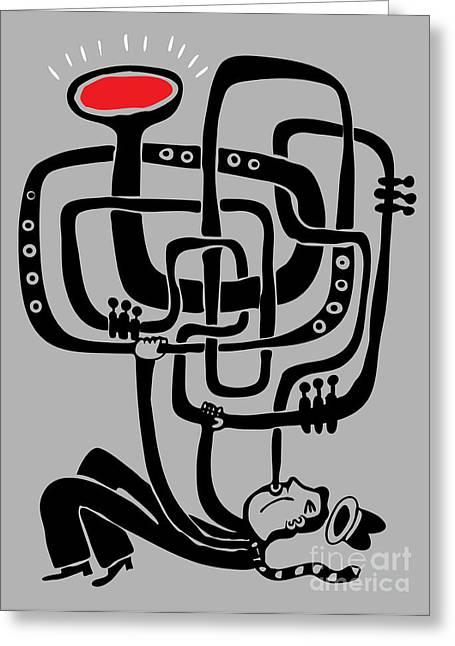Trumpeter Play A Long Weird Trumpet Greeting Card