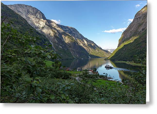 Greeting Card featuring the photograph Tufte, Naerofjord, Norway by Andreas Levi