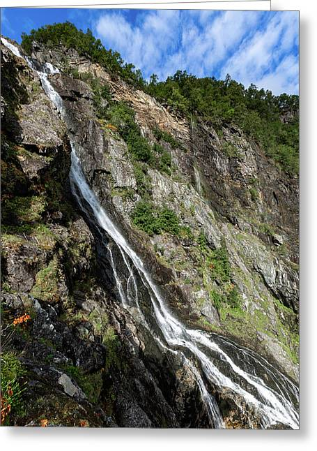Greeting Card featuring the photograph Tuftefossen, Norway by Andreas Levi