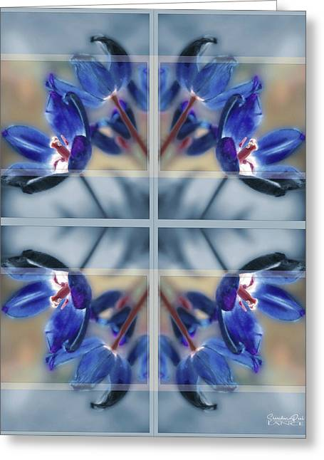 Tulips Of Stained Glass Greeting Card