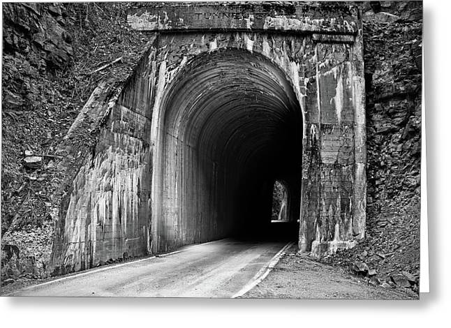 Tunnel Greeting Card by Leland D Howard