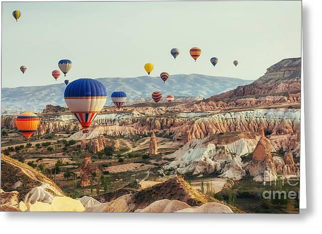 Turkey Cappadocia Beautiful Balloons Greeting Card