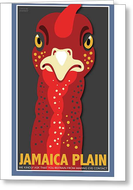Turkey Stare Jp Greeting Card