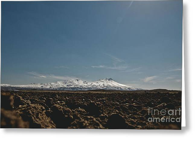 Turkish Landscapes With Snowy Mountains In The Background Greeting Card